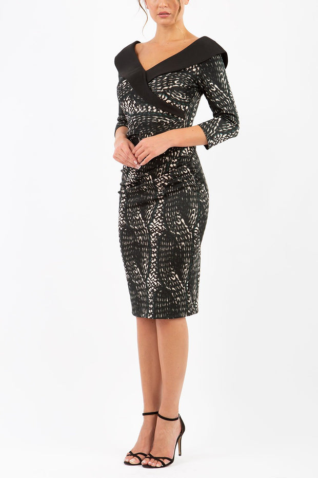 Eliza Animal Print Dress