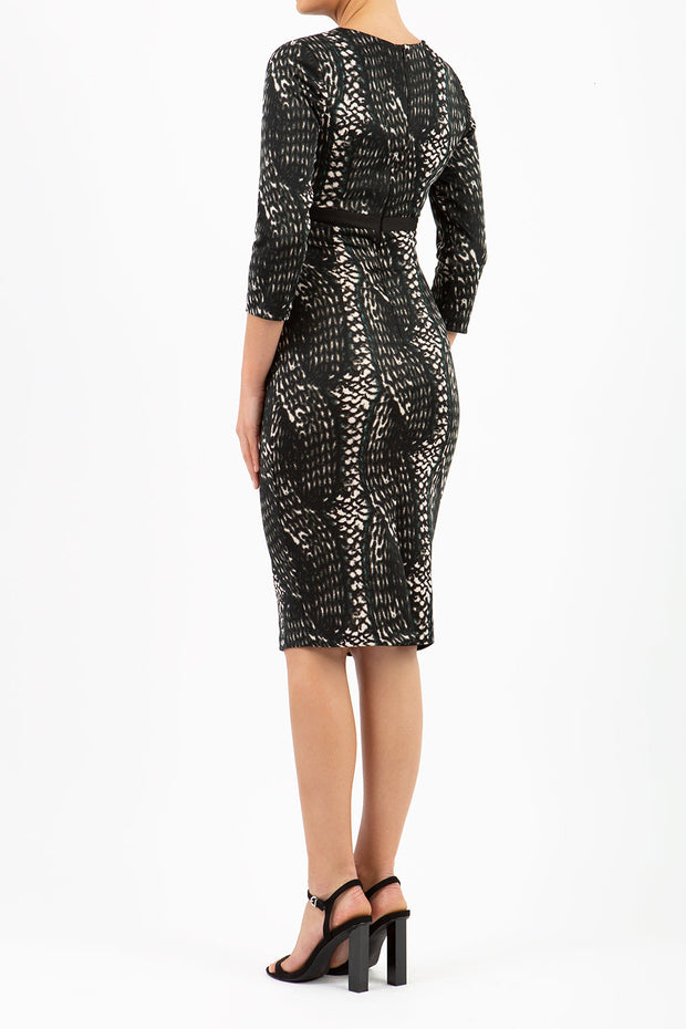 Nadia Print Contour Stretch Dress