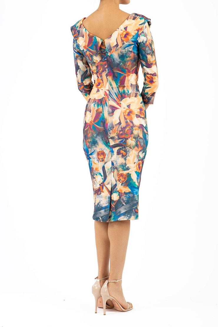 Eliza 3/4 Sleeve Print Dress