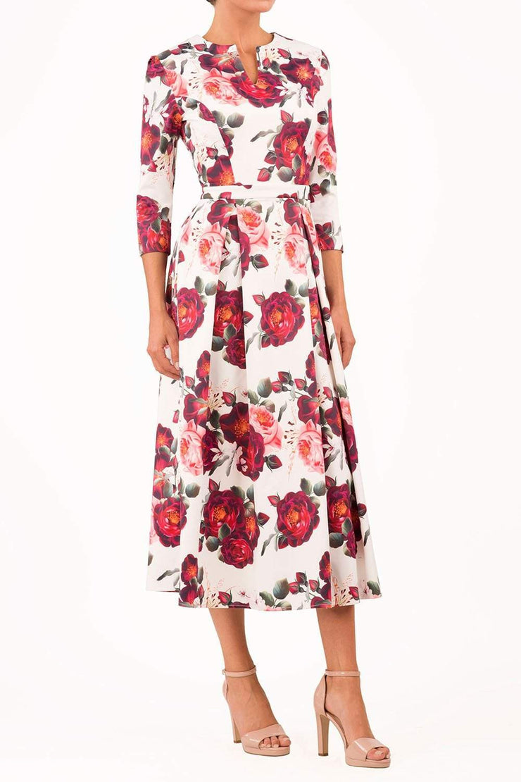 Empire Rose Swing Dress