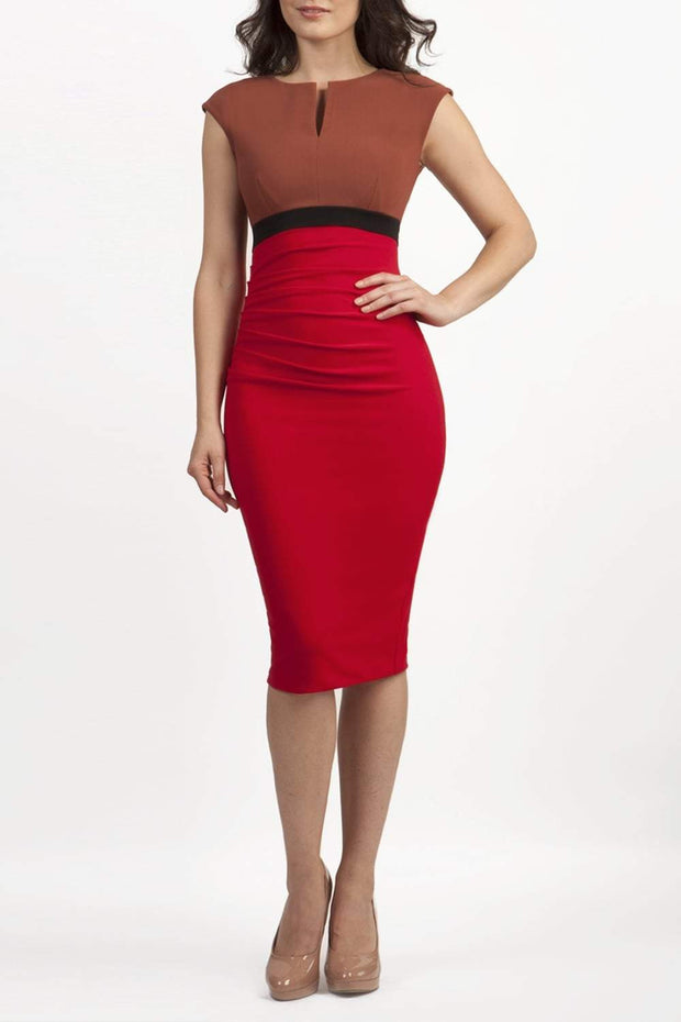 Nadia Colour Block Sleeveless Pencil Dress