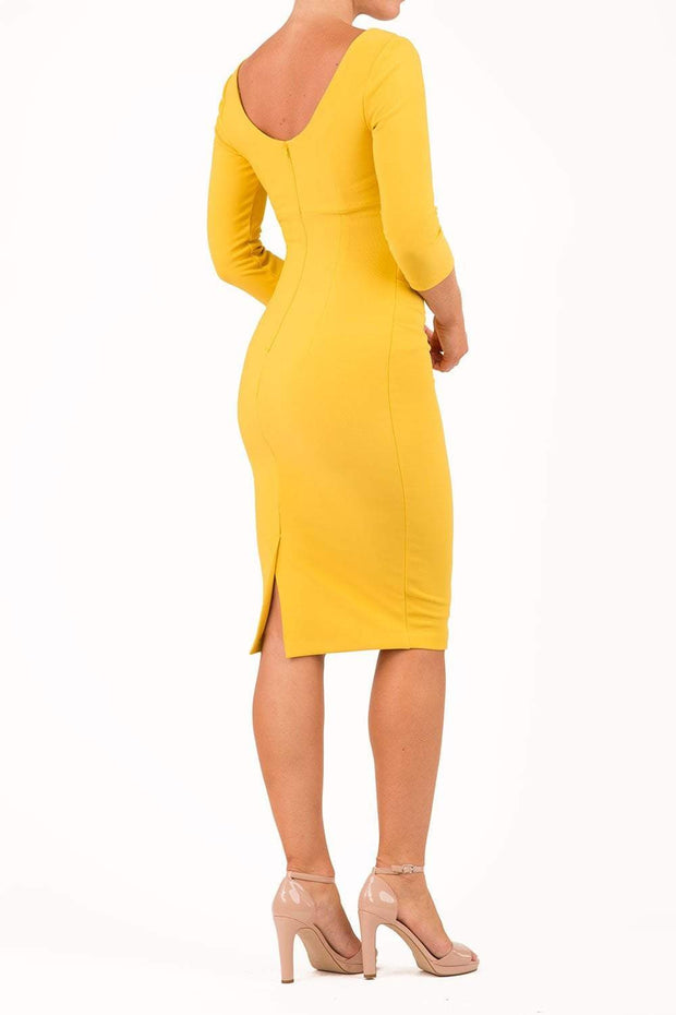 Polly 3/4 Sleeve Pencil Dress