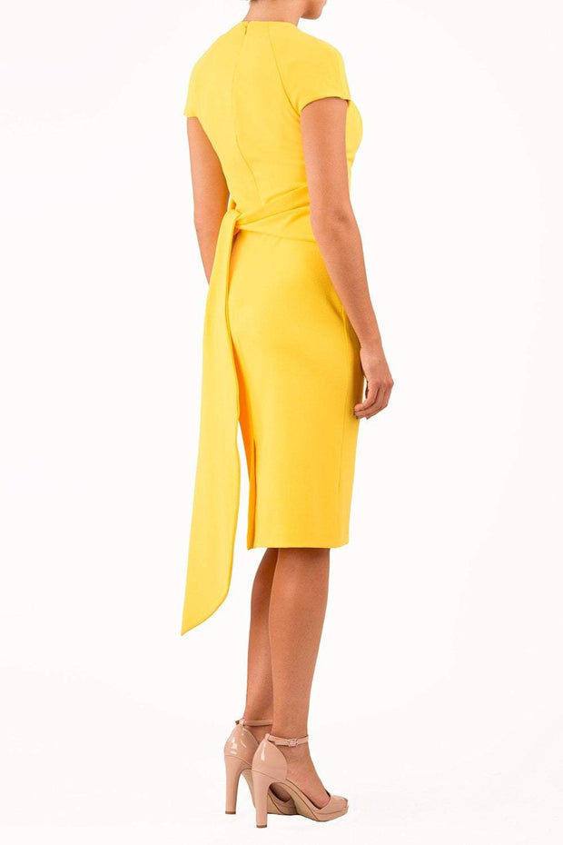 Amal_clooney_yellow_dress_royal_wedding_pencil_dress_back_image
