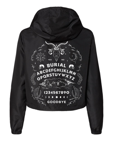 Ouija Womens Cropped Windbreaker (4731825717331)