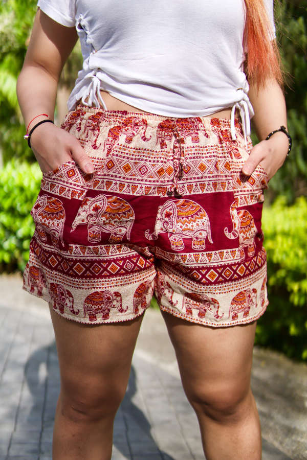Raj Red Harem Shorts