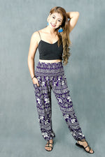 Ruengsin Purple Elephant Harem Pants
