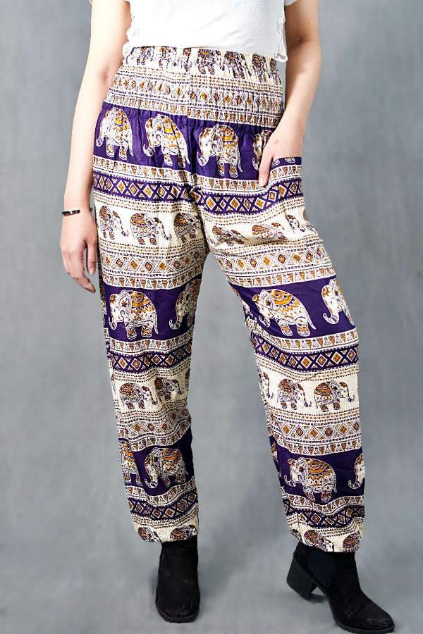 Bandhit Blue Elephant Harem Pants