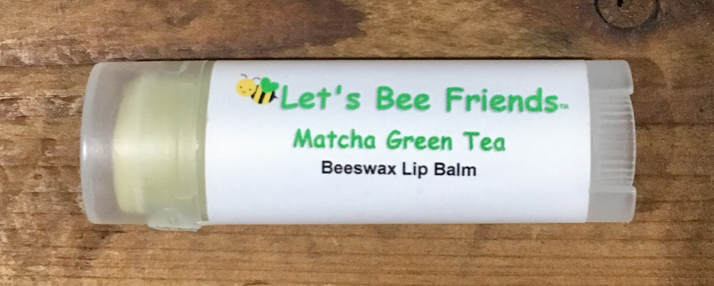 All natural and organic lip balm. Matcha Green Tea