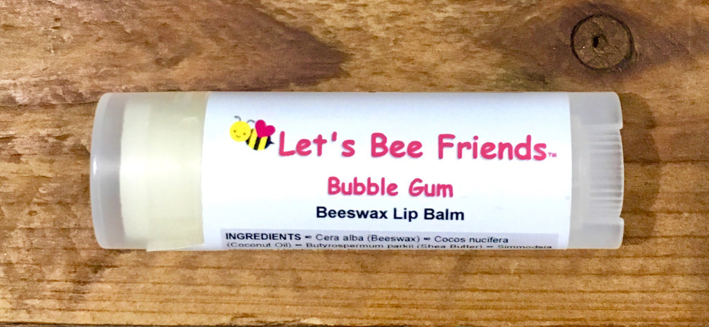 All natural and organic lip balm. Bubble Gum