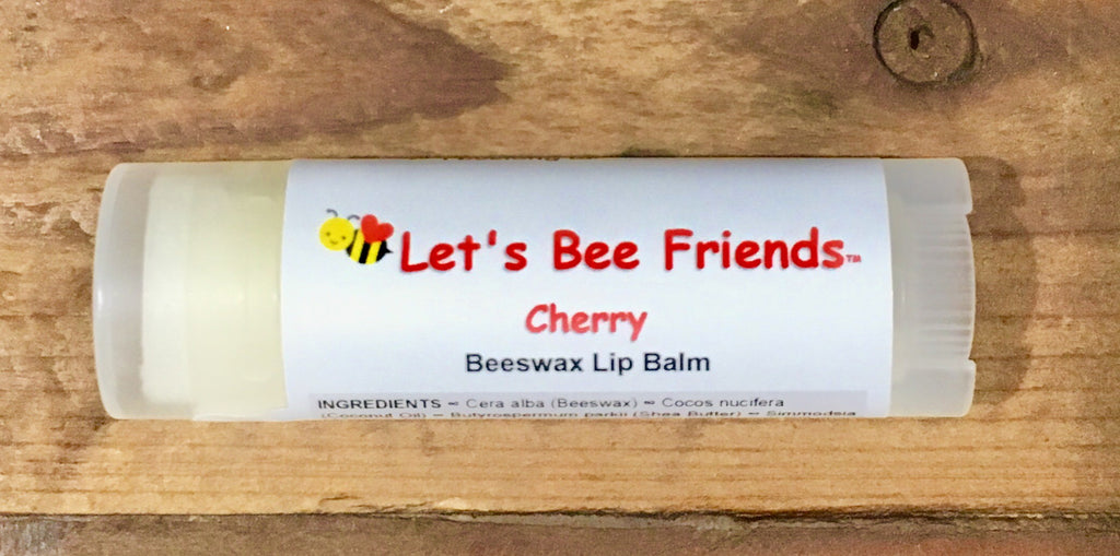 All natural and organic lip balm. Cherry
