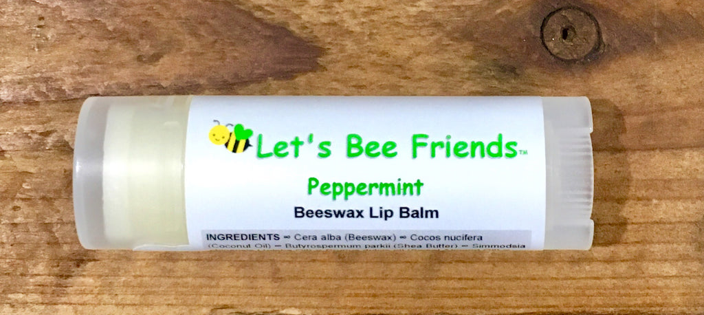 All natural and organic lip balm. Peppermint