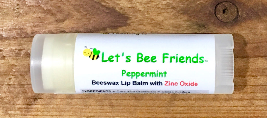 All natural and organic lip balm. Peppermint Zinc Oxide