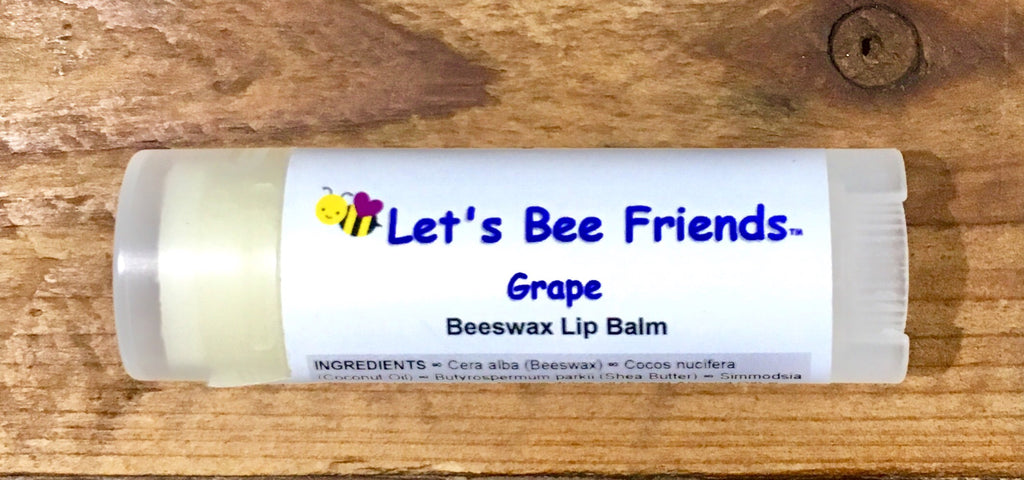 All natural and organic lip balm. Grape