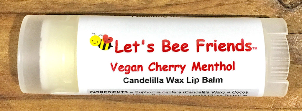 All natural and organic lip balm. Vegan Cherry Menthol
