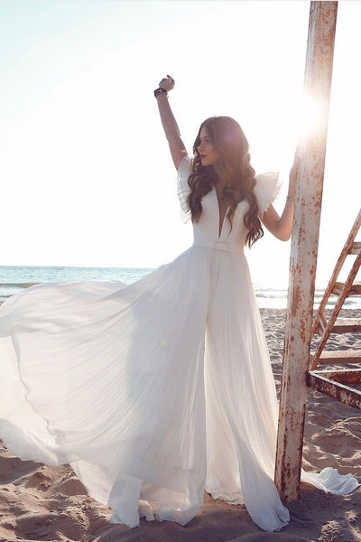 2020-beach-wedding-dresses-with-flutter-sleeves