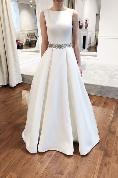 2020-modern-satin-bride-wedding-dresses-with-stones-sash