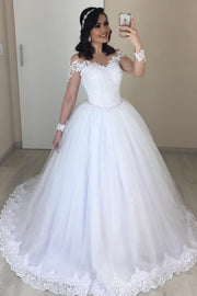 2020-new-white-tulle-lace-wedding-dress-with-sleeves