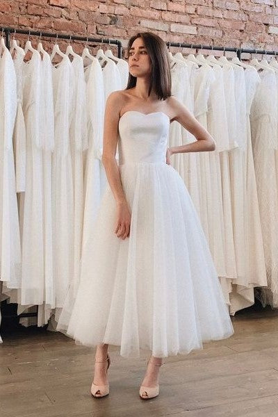 2020-tea-length-tulle-skirt-bridal-dress-for-informal-weddings