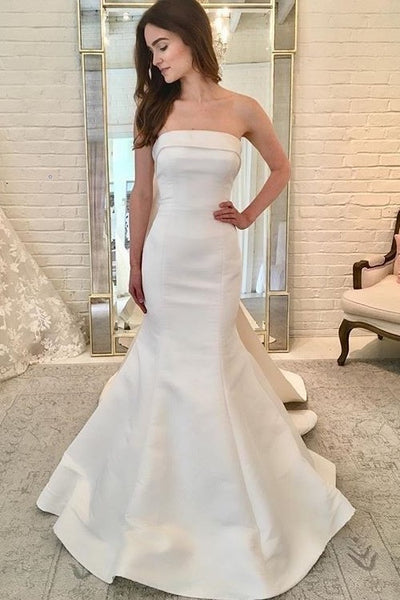 2021-simple-bride-satin-wedding-gown-with-ribbon-back