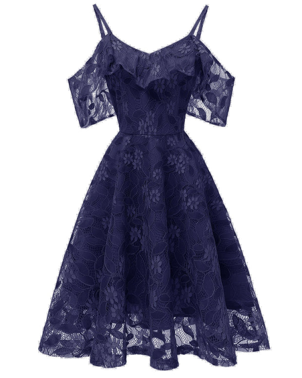 Lace Sleeve Lavender Party Dress 2019 Open Back
