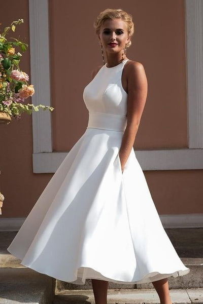 a-line-bride-summer-wedding-dresses-with-pockets