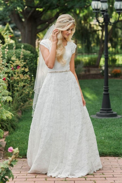 a-line-lace-modest-wedding-dress-with-beaded-belt