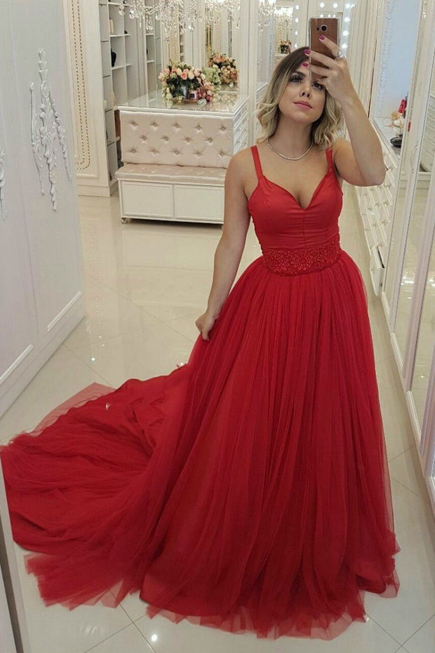 a-line-red-tulle-prom-gown-with-double-shoulder-straps