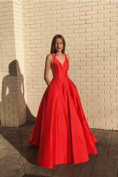 a-line-satin-red-prom-dress-2019-v-neckline-party-gowns