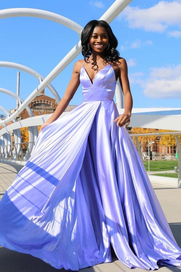 a-line-simple-long-prom-dress-gown-with-high-slit