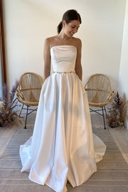 a-line-strapless-satin-wedding-dress-with-pockets