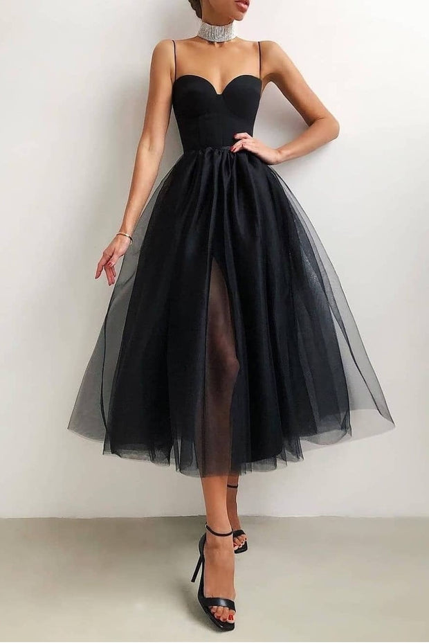 a-line-tulle-short-casual-wedding-dress-with-slit-1