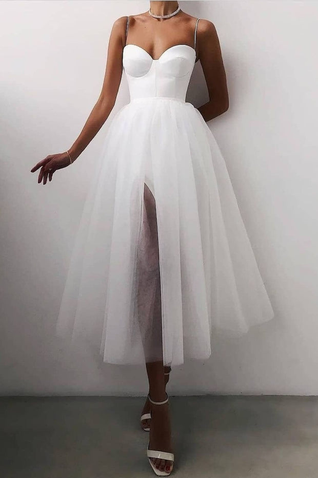 a-line-tulle-short-casual-wedding-dress-with-slit