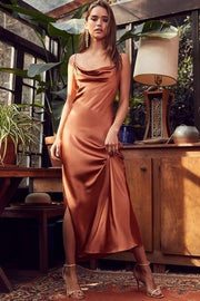 ankle-length-prom-dress-with-cowl-neckline