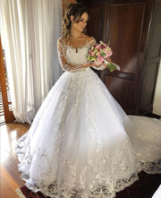 appliques-lace-wedding-dresses-with-full-sleeves-vestido-de-noiva-1