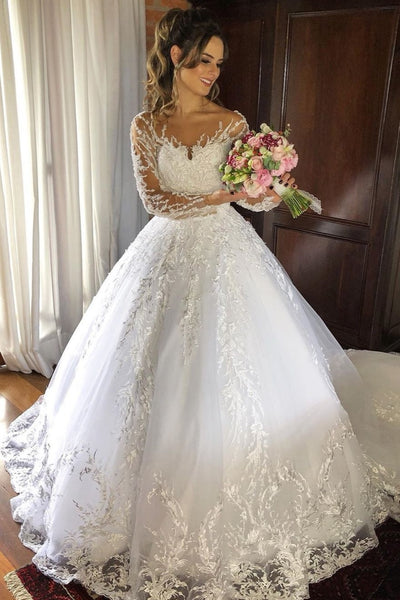 appliques-lace-wedding-dresses-with-full-sleeves-vestido-de-noiva