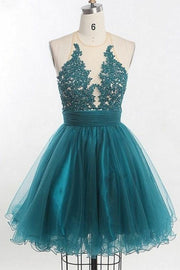 appliques-tulle-teal-homecoming-dress-with-illusion-neckline
