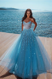 backless-blue-tulle-prom-long-dress-sequin-strapless-neckline