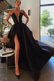 backless-satin-black-prom-gowns-with-pockets-2020