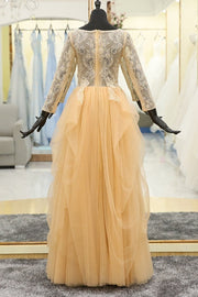beaded-lace-modest-evening-dress-long-sleeves-tulle-skirt-1