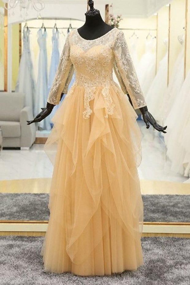 beaded-lace-modest-evening-dress-long-sleeves-tulle-skirt-2