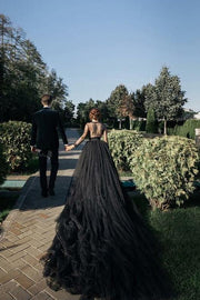 black-v-neckline-prom-dresses-beaded-illusion-tulle-with-long-train-1