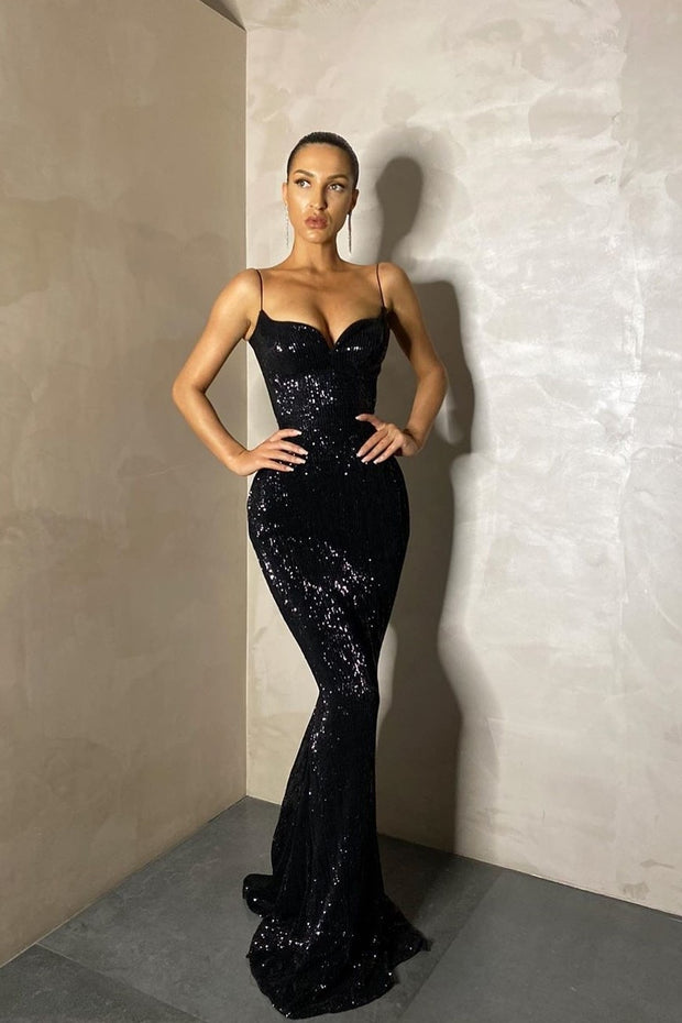 bling-bling-sequin-black-prom-long-dresses-with-thin-straps-1