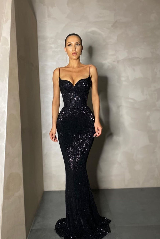 bling-bling-sequin-black-prom-long-dresses-with-thin-straps