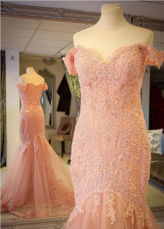 blush-pink-lace-mermaid-evening-gown-dress-with-off-the-shoulder-2