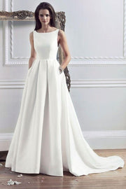 boat-neck-satin-a-line-wedding-gown-with-pockets