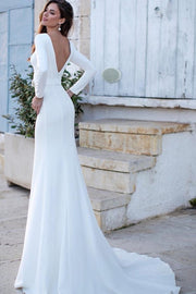 boat-neckline-simple-bride-dresses-with-long-sleeves-1