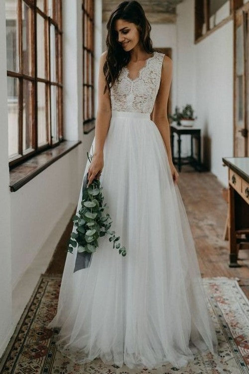 bohemian-lace-summer-wedding-dress-for-bride-tulle-skirt