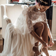 boho-style-chiffon-bride-dresses-with-lace-cape-1