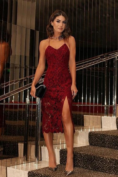 burgundy-lace-cocktail-dresses-tea-length-vestido-de-coctail