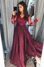 burgundy-lace-evening-dress-with-illusion-long-sleeves